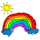 Child rainbow Royalty Free Stock Image