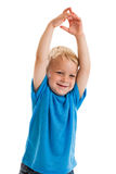 Child raising hands Royalty Free Stock Images