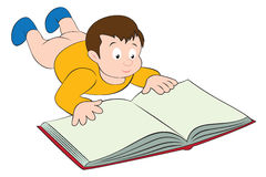 Child read. The figure shows the kid with the book Royalty Free Stock Images