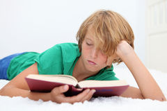 Child reading bible Stock Photography