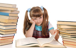 The child  reading book Royalty Free Stock Images