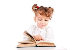 Child reading book Stock Photo