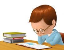 Child reading a book. Illustration of a child reading a book Stock Images