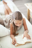 Child reading book Stock Photo