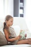 Child reading book Royalty Free Stock Photos