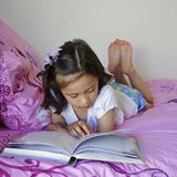 Child Reading a Book. Royalty Free Stock Photography