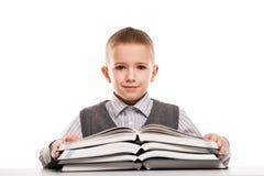 Child reading books Royalty Free Stock Image