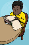 Child Reading Books Stock Photos