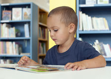 Child reading Stock Photo