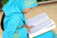 Child Reading Koran Royalty Free Stock Images
