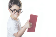 Child reading. Smart boy reading a book Royalty Free Stock Images