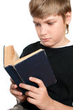 The child reads the Bible. Royalty Free Stock Image