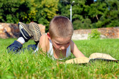 Child reads book Stock Photography