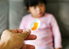 Child receiving pill royalty free stock image