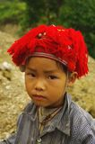 Child Red Dao. Red Dao ethnic child (Hoang Su Phi). Region North Vietnam Royalty Free Stock Photos