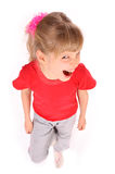 Child in red t-shirt shout. Stock Image