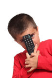 Child with remote control Royalty Free Stock Photography