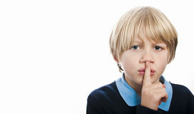 Child requesting silence or quiet Royalty Free Stock Images