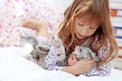 Child resting at home Stock Photography