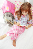 Child resting at home Stock Images