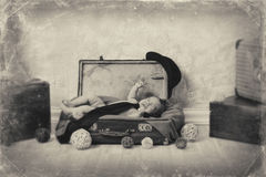 Child and retro. Royalty Free Stock Photo