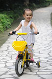 Child Ride bicycle Stock Photo
