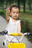 Child Ride bicycle Stock Photos