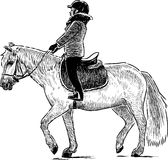 A child riding a horse Stock Image