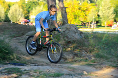 Child riding mountain bike Stock Photography