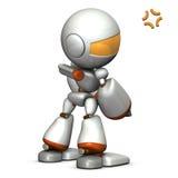 Child robot is grumpy.  Stock Photo