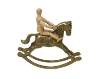 Child on Rocking Horse Stock Images