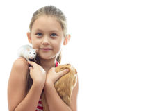 Child and rodents Royalty Free Stock Photos