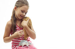 Child and rodents Royalty Free Stock Photo