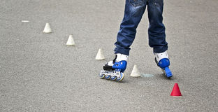 Child roller skate Stock Photography