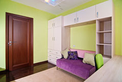 Child room. Colorful interior of playroom in new flat Royalty Free Stock Photography