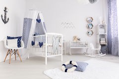 Child room in nautical style Royalty Free Stock Photo
