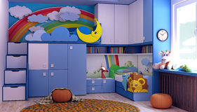 Child-room, new room for children Royalty Free Stock Image