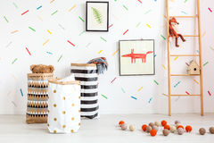 Child room in scandinavian style Stock Image