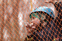 Child on a rope net Stock Photography
