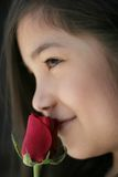 Child with rose Royalty Free Stock Images