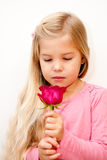 Child with Rose Stock Photography