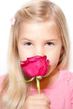 Child and Rose Royalty Free Stock Image