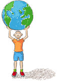 Child rules the world Royalty Free Stock Photography