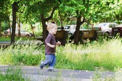 The child run Stock Photo