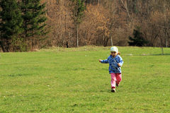 Child running royalty free stock photography
