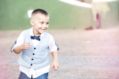 Child running fun, with dress heavenly Royalty Free Stock Photo