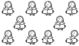 Child's 1 to 5  spot the difference. Child's 1 to 5 with ten spot the differences Stock Photography