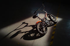 Child's abandoned bicycle royalty free stock photos