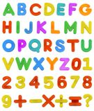 Childs ABC Letters. A Childs magnetic plastic ABC Letters laid out Alphabetically Royalty Free Stock Image