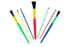 Child's Art Brushes Stock Photo